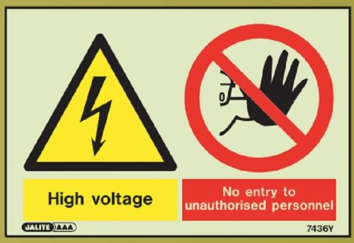 (7436) Jalite High Voltage / No entry to unauthorised personnel